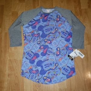 LulaRoe Disney Women's XS NWT 3/4 Sleeve T-shirt